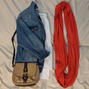 Oversized L.L. Bean Infinity Coral Scarf
